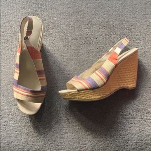 Anne Klein wedge slingbacks